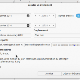 Nouvelle documentation : Calendrier