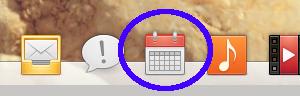 Calendrier se trouve dans le dock d'elementary OS