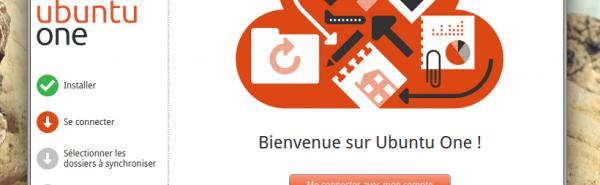 Ecran d'accueil d'Ubuntu One