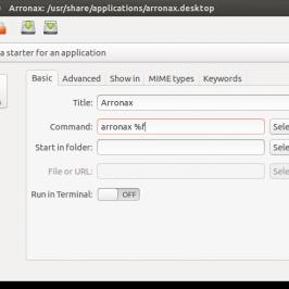 Modifiez vos raccourcis .desktop avec Arronax