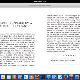 Un lecteur d'eBooks en développement