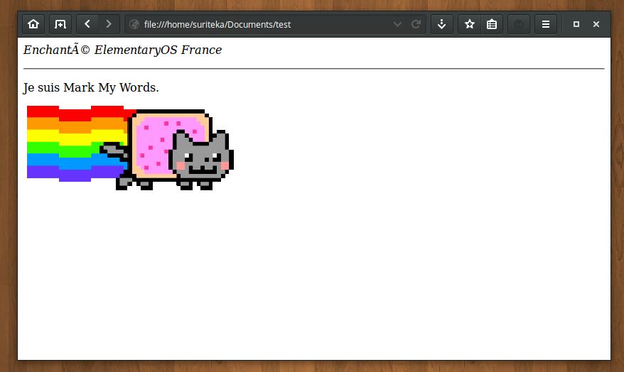 Exportation en HTML de notre document Markdown