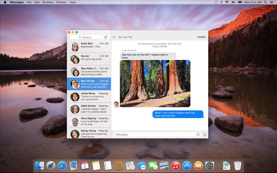 Application iMessage sur OSX Yosemite
