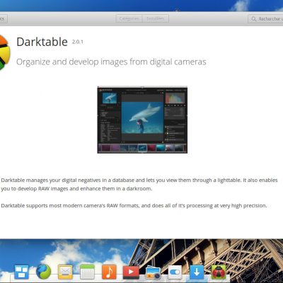 Installer Darktable à partir de l'AppCenter