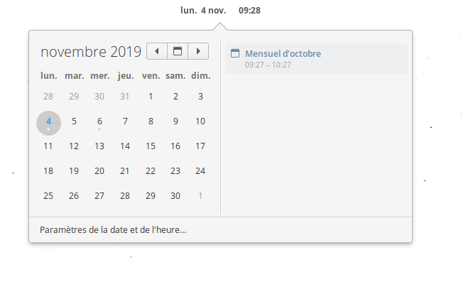 Date & Time indicator screenshot